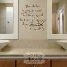 sayings text bathroom wall quotes decals decorations wooden