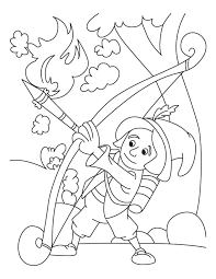 archery game coloring page download free archery game coloring