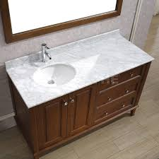 42 In Vanity Top Offset Bathroom Vanity Tops Lily 55 Classic Cherry Natural