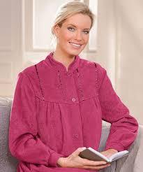robes de chambre robe de chambre en molleton polaire 105 cm vison femme damart