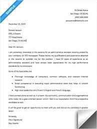 administrative assistant cover letter cover letter sample