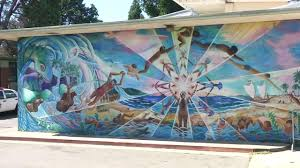 sausalito foundation throws summer of love shindig to save a mural is painted on a wall in san francisco in this photo taken on friday