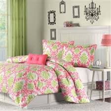 Teen Comforter Set Full Queen by Full Queen Coral Pink Light Olive Green White Damask Comforter Set