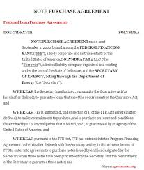 note purchase agreement sample note purchase agreement template
