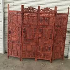 carved wood room divider wayfair