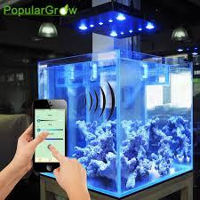 Aquarium Led Lighting Fixtures Wifi Cob Lens 169w Marine Led Aquarium Light For Coral Reef