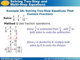 solving two step and multi step equations warm up lesson