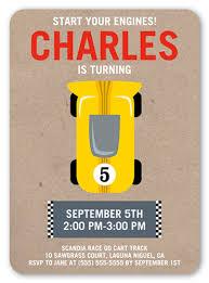 race car party 5x7 stationery card boy birthday invitations