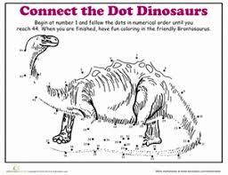 dot to dot dinosaur brontosaurus worksheet education com