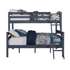 Blue Twin Bed by Dorel Home Products Brady Twin Over Full Bunk Bed Graphite Blue