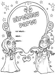 trend coloring page birthday card nice kids co 3341 unknown