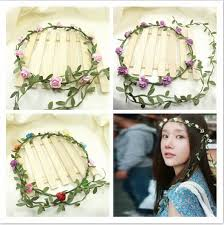 flower girl headbands seaside resort photo floral headband flower girl crown