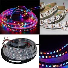 5v ws2812b rgb led strip light 60leds m black or white pcb 5050