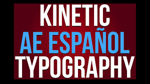 tutorial kinetic typography after effects tutorial kinetic typography after effects en español viichannel