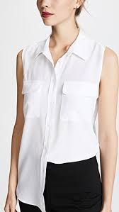 equipment signature blouse equipment sleeveless slim signature blouse shopbop