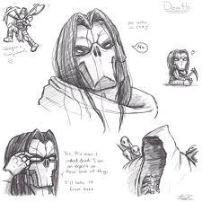 death sketches by bloodydragon117 on deviantart