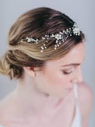 hair wreath bridal halo headpiece bridal accessory cassiopeia hair wreath