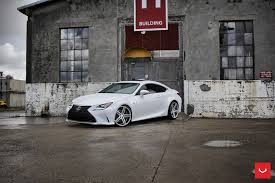 new lexus rcf for sale white lexus rcf on vossen wheels has the look of a cult car