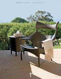 furniture wonderful landscape with wicker chair by janus et cie
