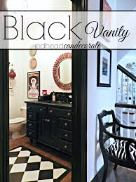 black vanity makeover redhead can decorate