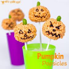 Rice Crispy Treat Pumpkins Pumpkin Popsicles Rice Krispie Treats Kids Craft Room