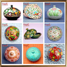 hand painted paper mache animal shaped keepsake easter egg box