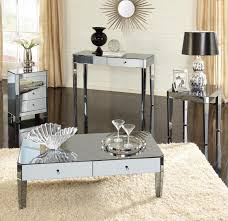 mirrored end table set full mirrored end table with drawer coffee drawers set on sale tray