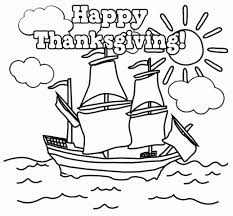 Free Thanksgiving Coloring Kids Free Thanksgiving Coloring Pages Mayflower Holidays