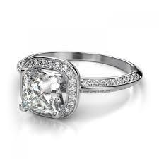 Princess Cut Wedding Ring by 36ctw Knife Edge Halo Princess Cut Sidestones Engagement Ring