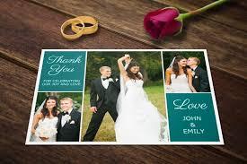 wedding thank you postcards wedding thank you postcards template card templates creative
