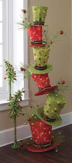 raz whimsical stack of lighted top hats trendy tree