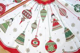 vintage tree skirt lights decoration