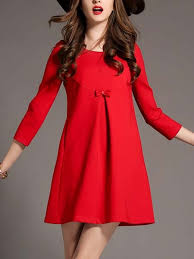 red shift above knee dress for casual evening dress ph