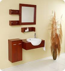 Bathroom Vanity With Side Cabinet Fresca Fvn3520 Stile 25 5 Inch Modern Bathroom Vanity W Mirror