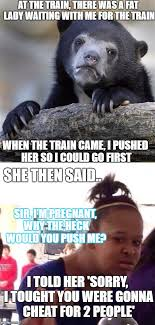 Fat Black Girl Meme - awkward story at the train that was awkward imgflip