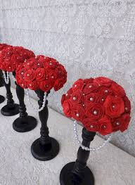 black and white wedding centerpieces red roses u2013 oosile