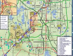 map of kissimmee map of orlando and kissimmee