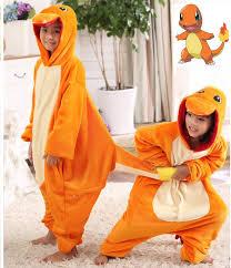 Pikachu Halloween Costume Kids Pokemon Charmander Cosplay Jumpsuit Costume Children Kids