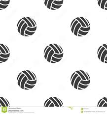 seamless pattern with volleyball stock vector image 60615701