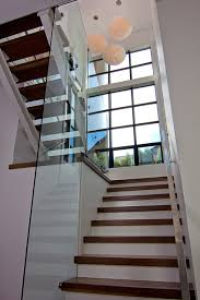 lowes stair treads staircase contemporary with glass open stairs