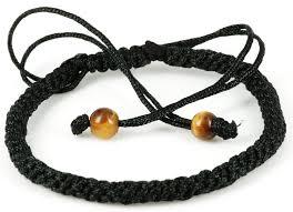 string bracelet with beads images Handmade black string macrame style adjustable jpg