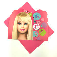 Barbie Themed Invitation Card Barbie Envolopes Images Reverse Search