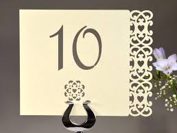 what size are table number cards forever wedding table number cards laser cut priced each