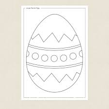 large easter egg colouring sheet cleverpatch