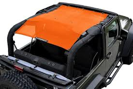 orange jeep cj alien sunshade jkfb jeep wrangler 2 door jk mesh sun shade top