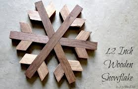 diy geometric wooden snowflake my altered state