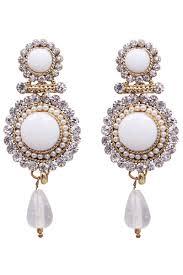 stylish earrings enchanting white color alloy stylish earrings from kalaniketan