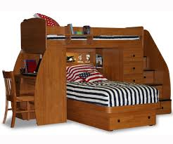 twin over twin space saver with desk chest and platform bed