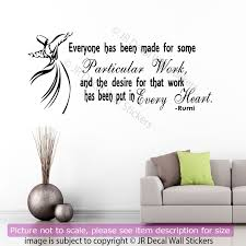 vinyl wall stickers jalaluddin rumi inspirational quote on life removable vinyl wall