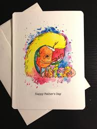 nerdy s day cards blank fathers day card jake and rainicorn and puppies